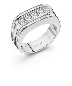 Diamond gent's wedding band